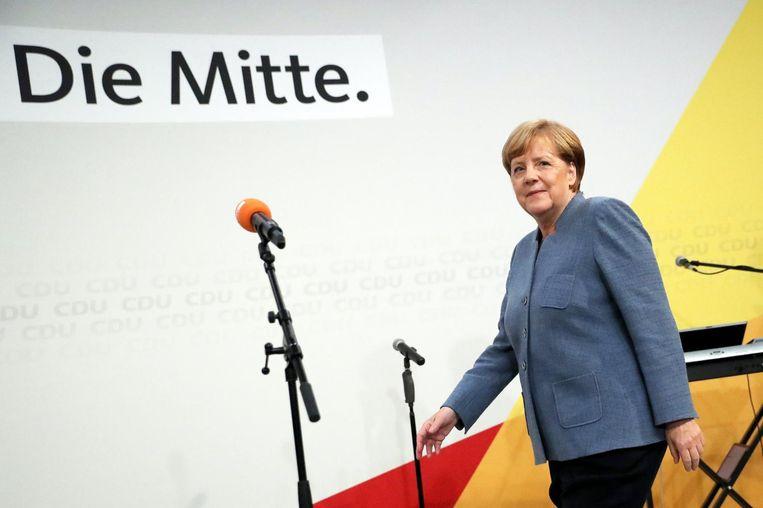 Angela Merkel Beeld null