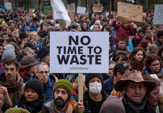 In Brussel werd gisteren de grootste klimaatmars ooit gehouden