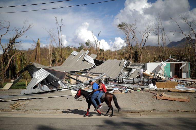 Puerto Rico na de doortocht van orkaan Maria