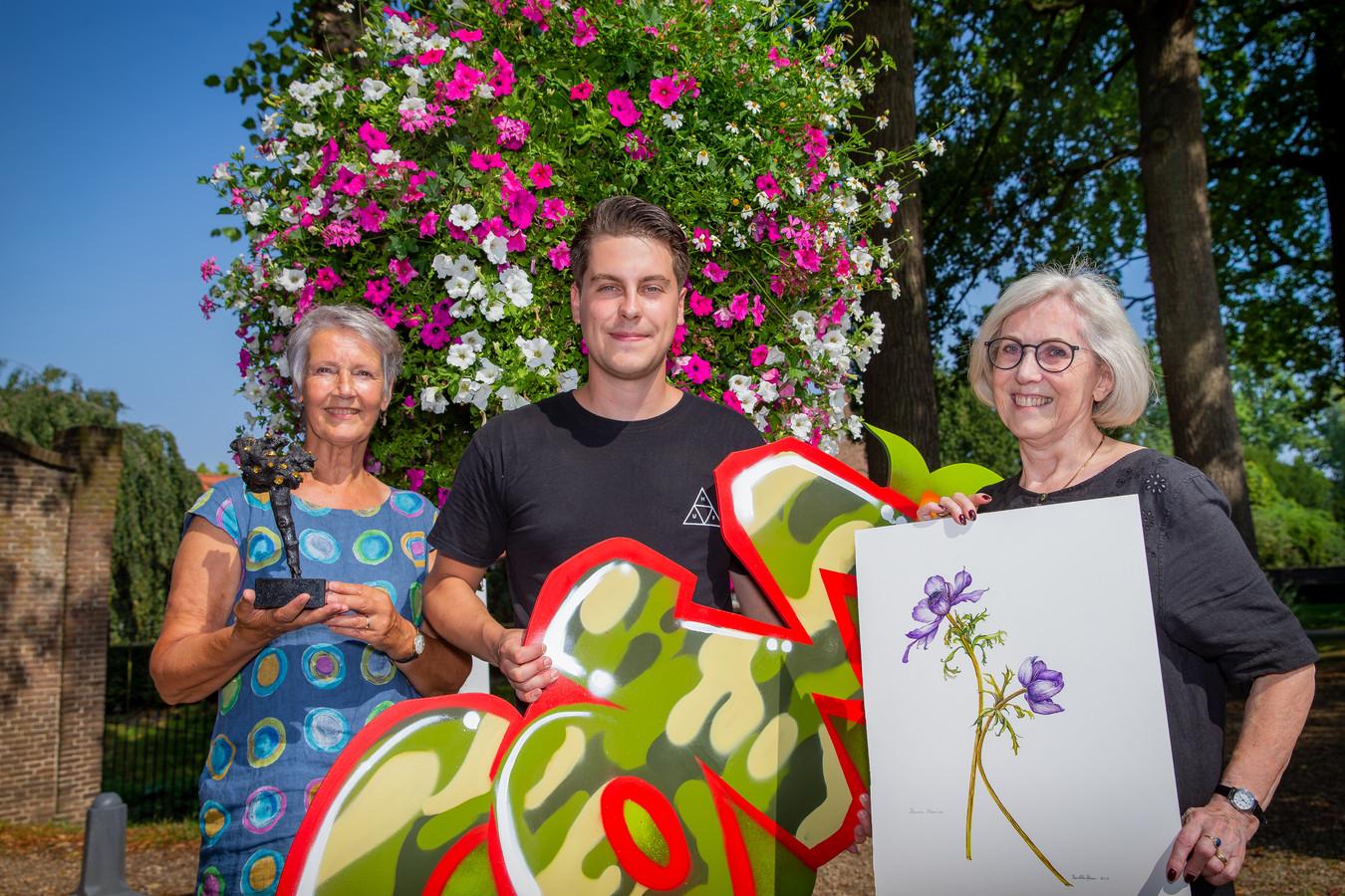 Margreet van der Meij, Sander Dolstra en Ria van Elk presenteren zich zondag in Kunsthuis Wijchen.