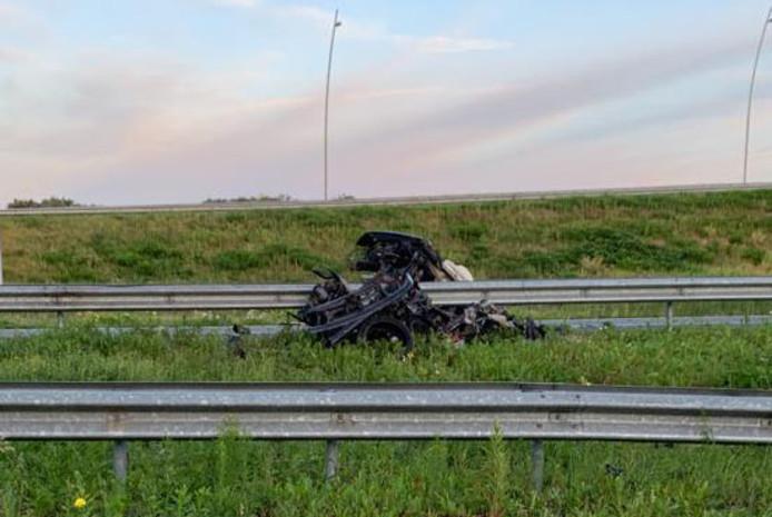 Ernstig ongeluk op A2 bij Eindhoven.