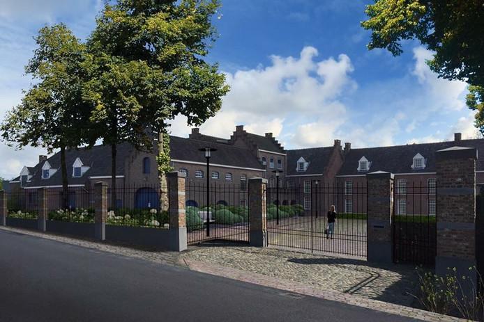 Animatie van het nieuwe Genderhorst, zoals het kamerverhuurgebouw er over een jaar uit moet zijn.