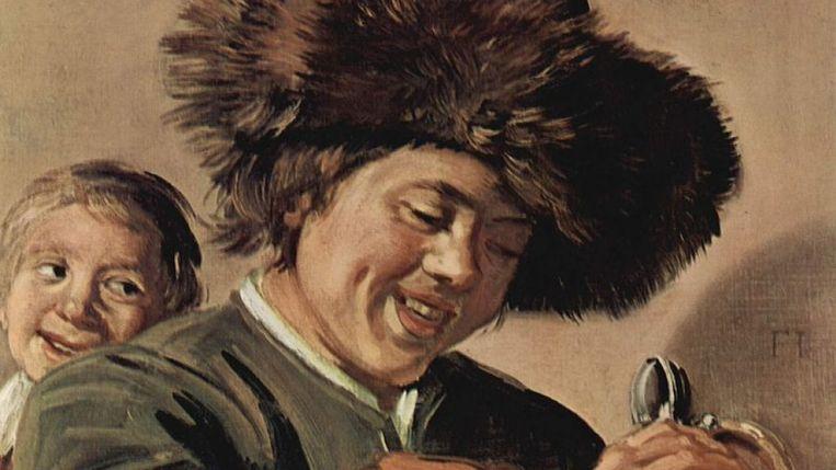 Een uitsnede van 'Twee lachende jongens' van Frans Hals Beeld ANP