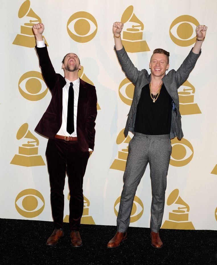 Ryan Lewis en Macklemore op de Grammy Awards