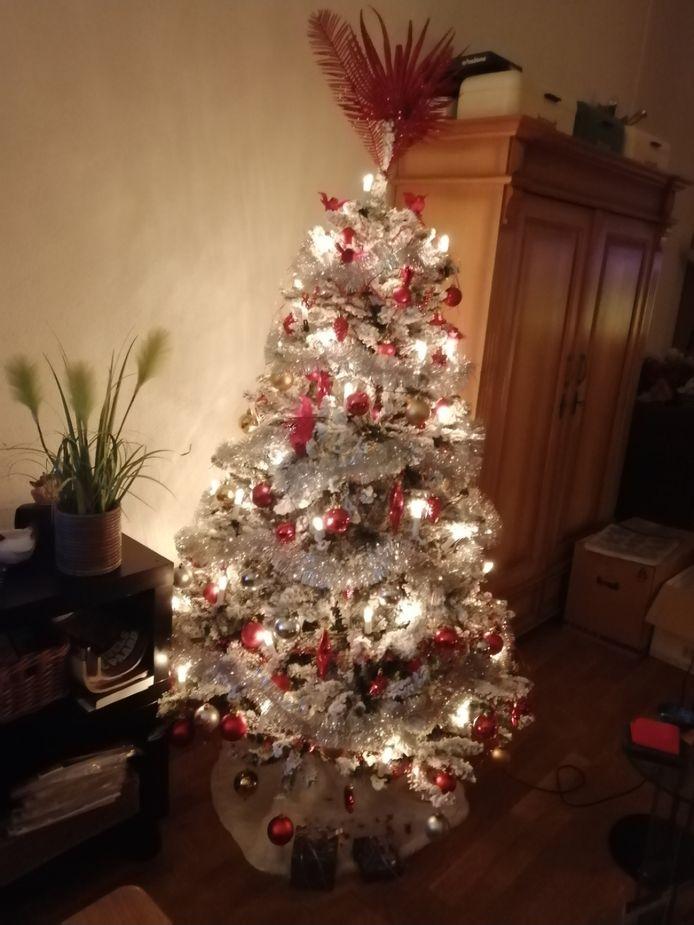 De boom van de familie Everkes in de Nijmeegse Geerkamp: een bron van licht in de huiskamer.