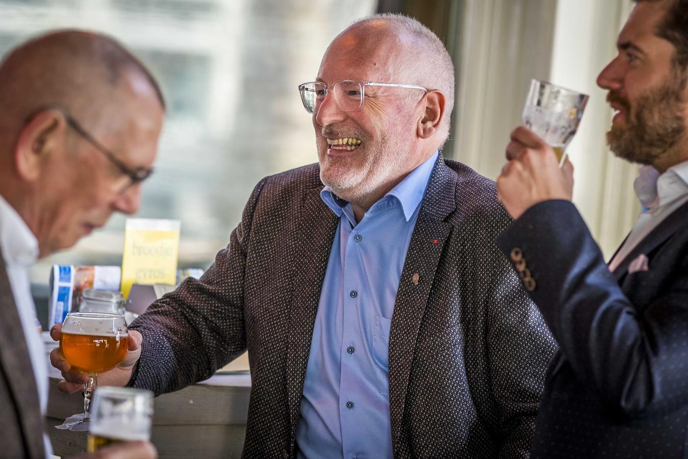 Eurocommissaris Frans Timmermans tijdens de campagne voor de Europese verkiezingen in zijn thuisstad Heerlen.