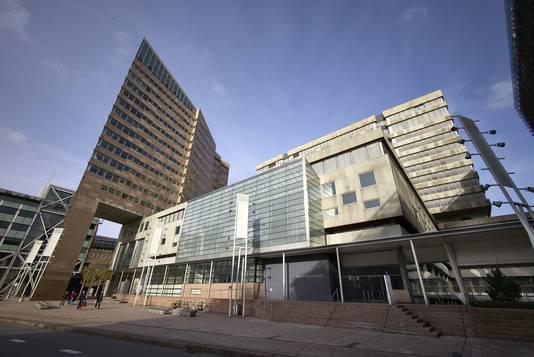 Het Paleis van Justitie in Den Haag, waar de Haagse rechtbank zitting heeft.