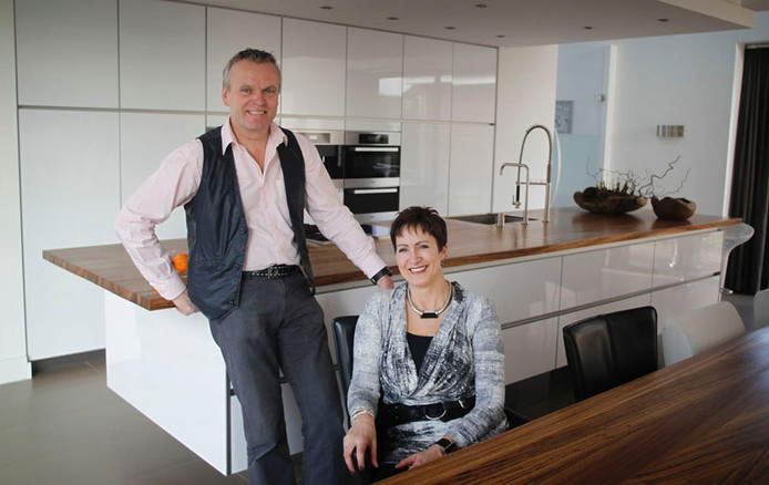 Harold en Conny Verheggen: ultieme zelfbouwers. Foto Irene Wouters