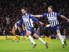 Zeldzame treffer Pröpper bij gelijkspel Brighton tegen Wolves