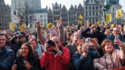 Al van 's ochtends vroeg volle bak ambiance: start Ronde van Vlaanderen lokt 75.000 wielerfans