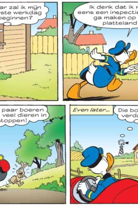 Boeren woest om Donald Duck