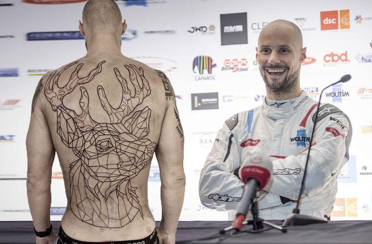 Zo zag de tattoo van Boonen er enkele weken geleden uit, vandaag deelde zanger-tatoeëerder Jef Van Echelpoel het uiteindelijke resultaat.