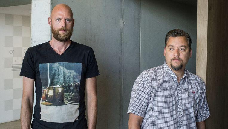 Producer Jules Tervoort (links) & regisseur Mischa Rozema van filmproductiebedrijf PostPanic. Beeld Mats van Soolingen
