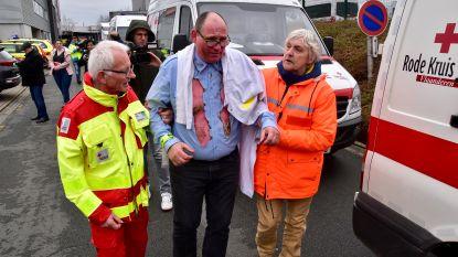 Relletjes op tribune Schiervelde en dan... een knal: Rode Kruis oefent rampscenario