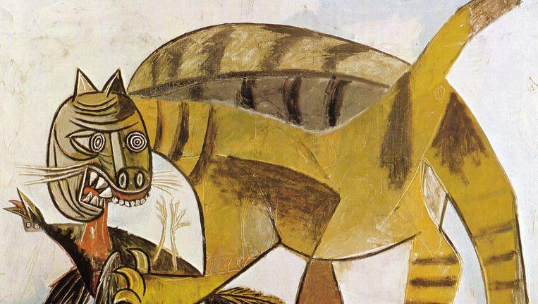 Kat verslindt vogel - Pablo Picasso Beeld AP