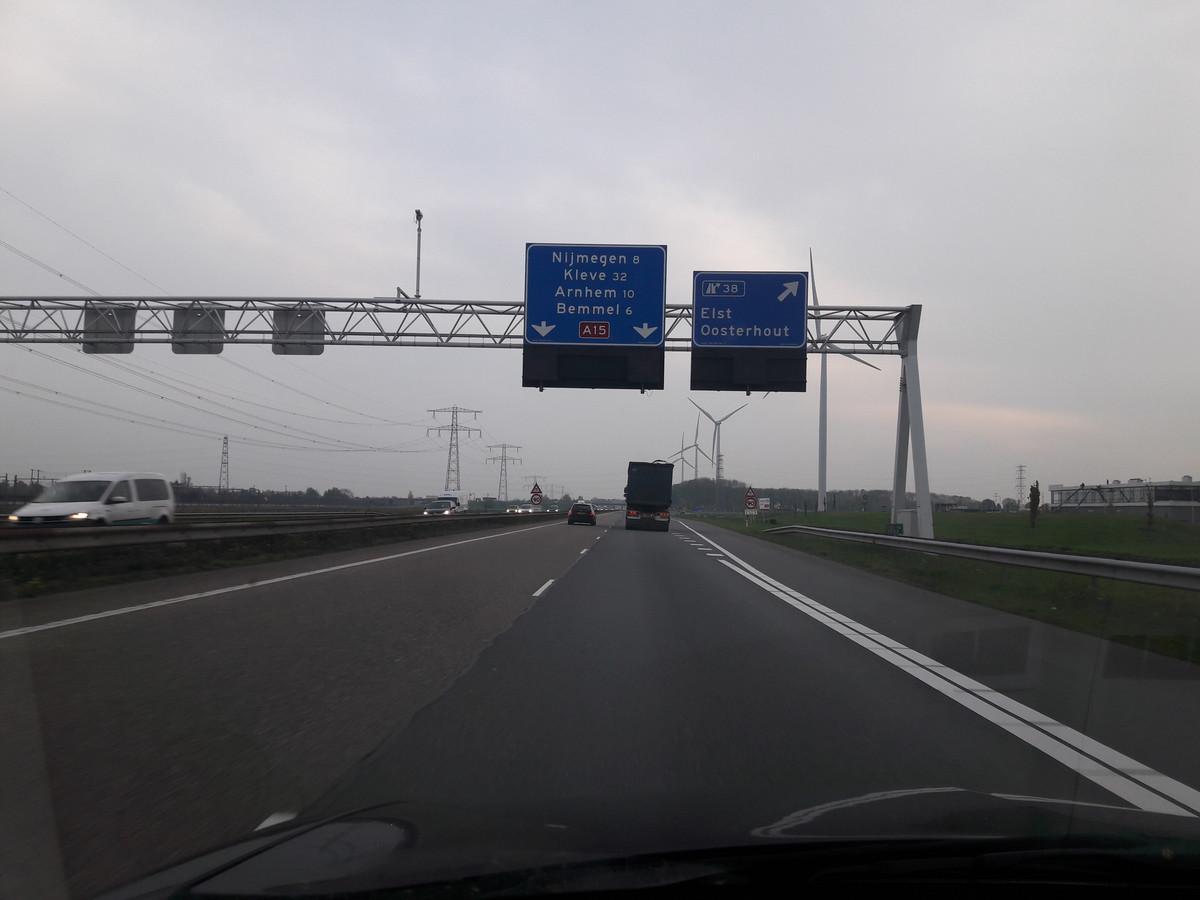 De A15-aansluiting Elst/Oosterhout