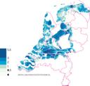 Hoe ver Nederland onder water zou staan als nu de dijken en duinen doorbreken.
