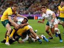 Engeland bereikt halve finales WK rugby
