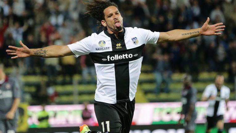 Twee goals van Amauri bezorgden Parma zondag een ticket voor de Europa League
