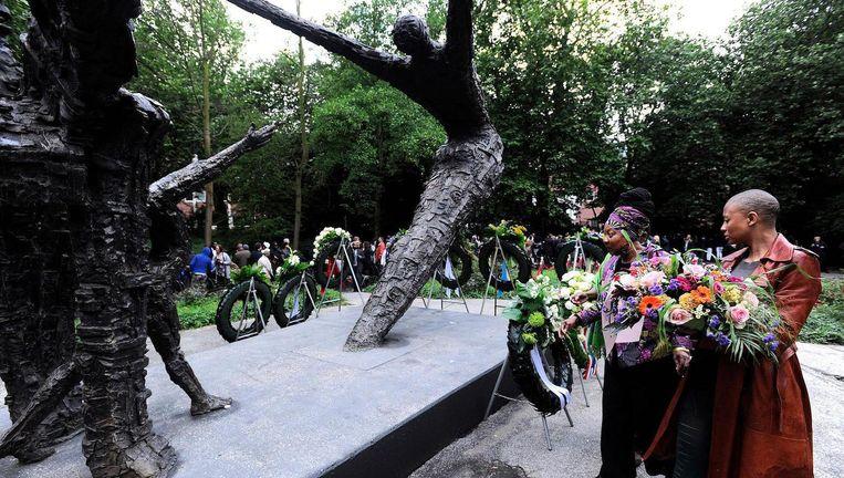 Herdenking van de slavernij in Oosterpark Beeld ANP