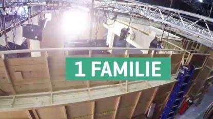 35 verschillende kamers, 500 verhuisdozen en 2400 m² studio: de verhuis van 'Familie' in cijfers