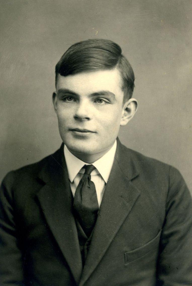 Alan Turing als 16-jarige op een schoolfoto uit 1928. Beeld afp