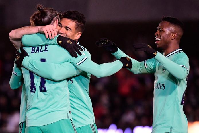 Bale à la fête, après le but d'ouverture