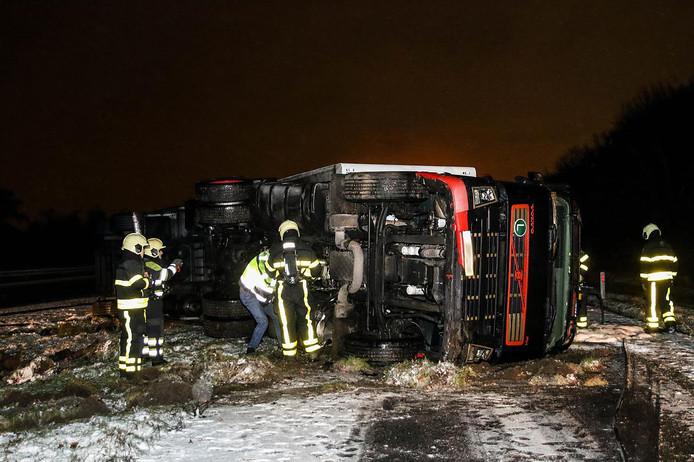 Ongeval op A59 bij Made.