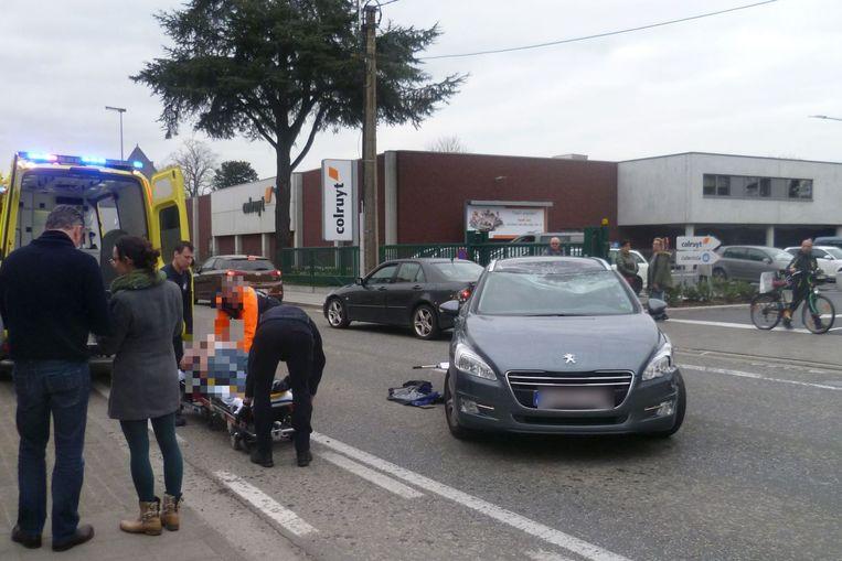 De motorrijder werden naar het ziekenhuis gebracht.