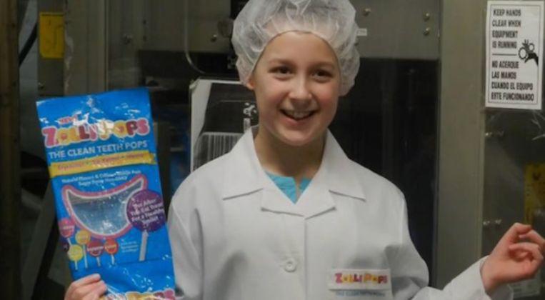 Alina was amper 7 jaar toen ze op het idee kwam van haar Zollipops