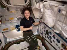 Hondje astronaute door het dolle heen als baasje na jaar thuiskomt