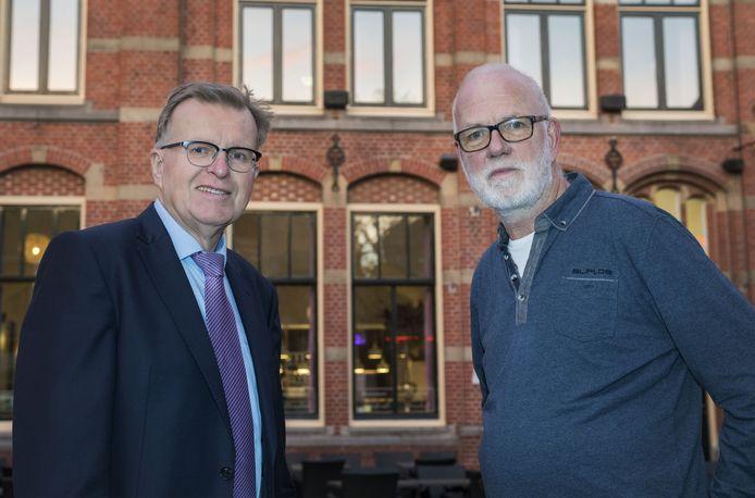 Grol-voorzitter Hans Scheinck (links) met zijn collega Harry Paf van Grolse Boys.