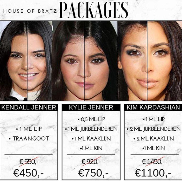 Een advertentie op Instagram voor een Kardashian-make over.  Beeld House of Bratz