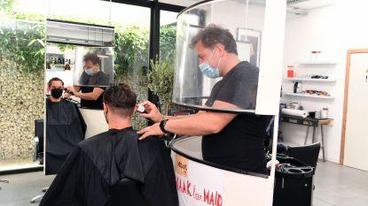 MAAKbar Leuven ontwikkelt circulaire beschermingswand voor kappers