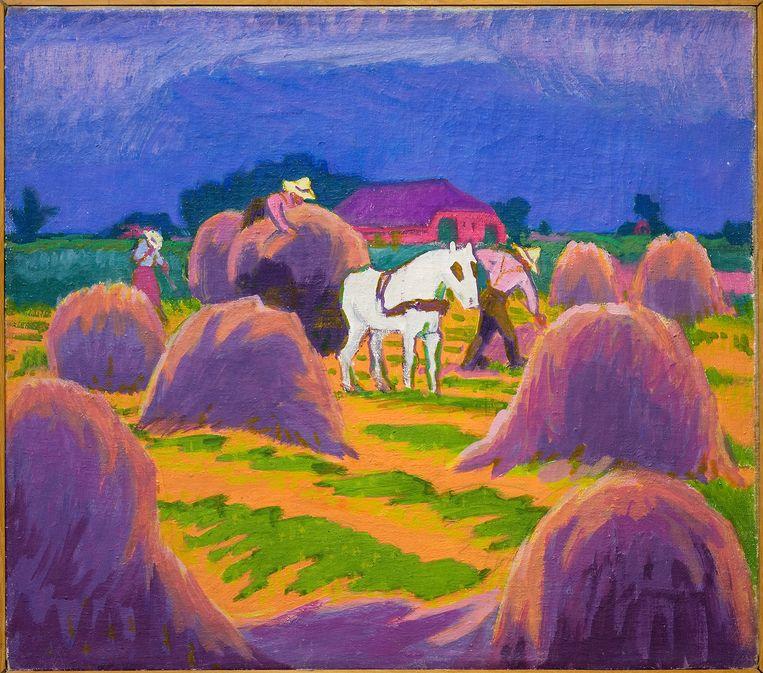 Jan Altink, 'Het witte paard', 1925 Beeld marten de leeuw