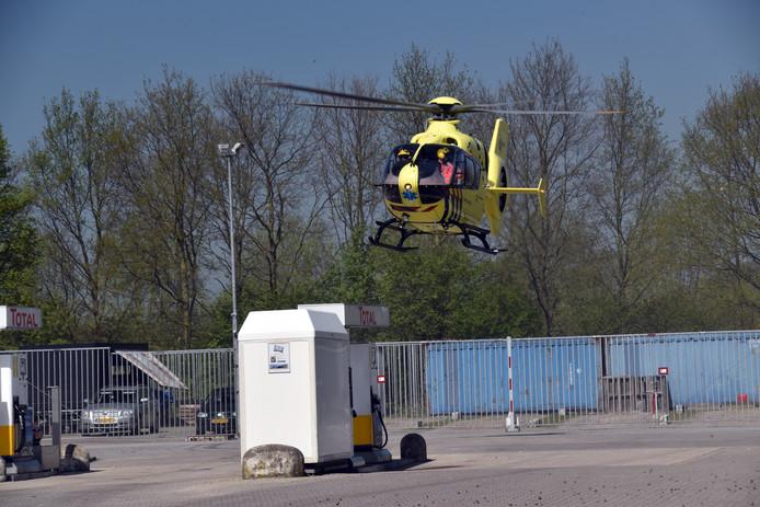 Traumaheli landt in Waardenburg.