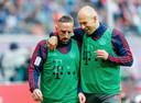 Robben met zijn maatje Ribéry voor RB Leipzig-Bayern München.