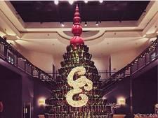 Deze kerstboom is perfect voor iedereen die van wijn houdt