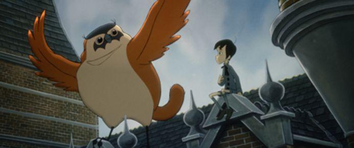 Beeld uit animatiefilm 'From The Snow-Covered Hill', onderdeel van het Competitie Programma.