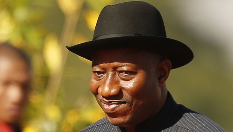 De Nigeriaanse president Goodluck Jonathan.