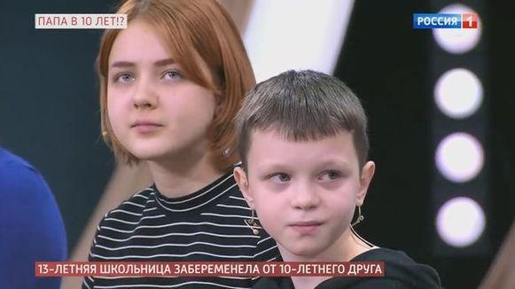 Daria en Ivan verschenen met toestemming van hun ouders op televisie om over hun opmerkelijke situatie te vertellen.