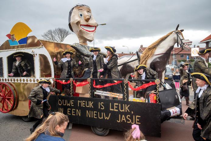 De carnavalsoptocht in Renkum, zaterdag.