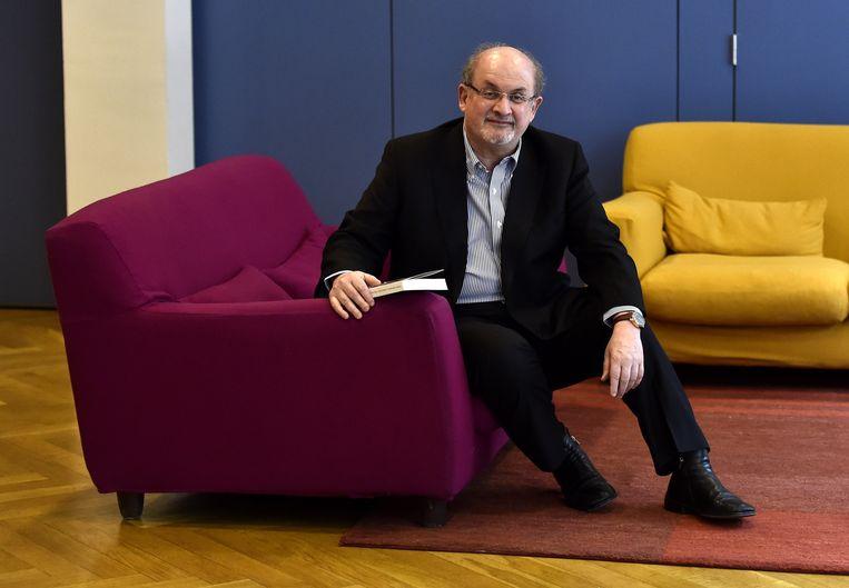 Een van de ondertekenaars, de in India geboren Britse auteur Salman Rushdie. Beeld AFP