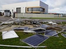 Storm blaast alle zonnepanelen van dak Veldman Hasselt Beton