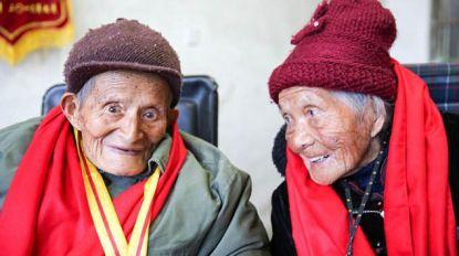 Een leven lang samen: Chinese eeuwelingen al 80 jaar getrouwd