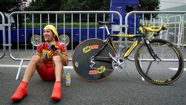 Jeroen Blijlevens tijdens de Tour de France van 2000. Beeld anp