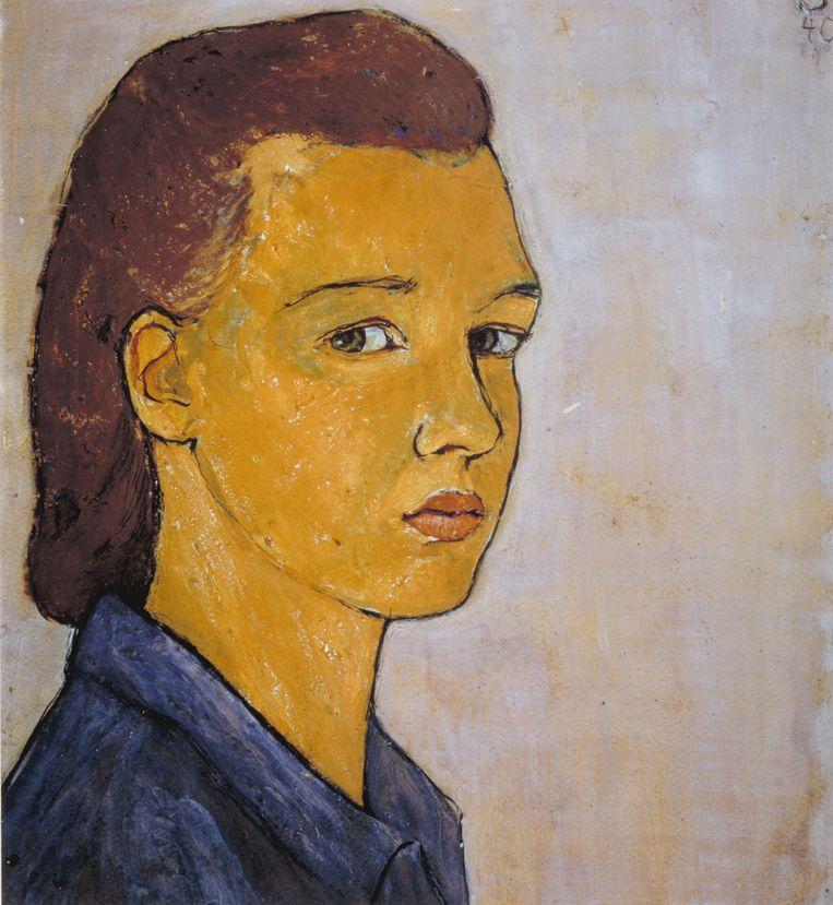 Zelfportret van Charlotte Salomon, 1940. Beeld jhm