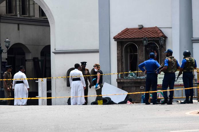Onderzoek bij één van de getroffen kerken