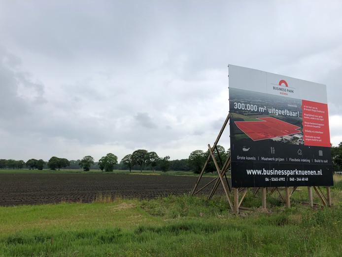 Het terrein in Nuenen waar bedrijventerrein Eeneind-West is gepland