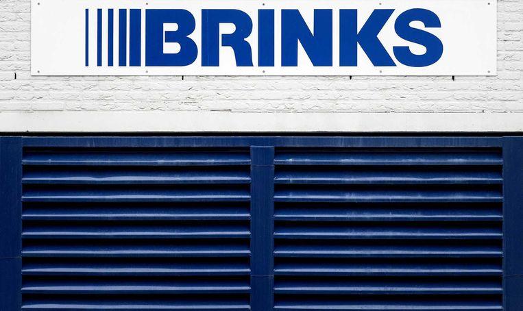 Het logo van Brinks op de gevel van een gebouw. Beeld anp
